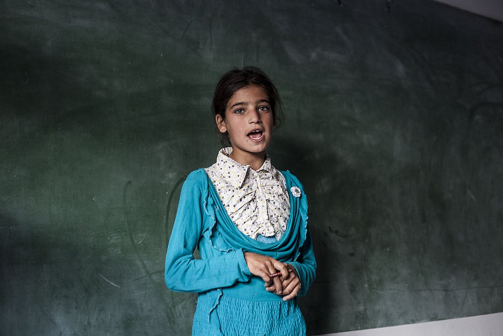 School for refugee children in Qaa, Lebanese-Syrian border