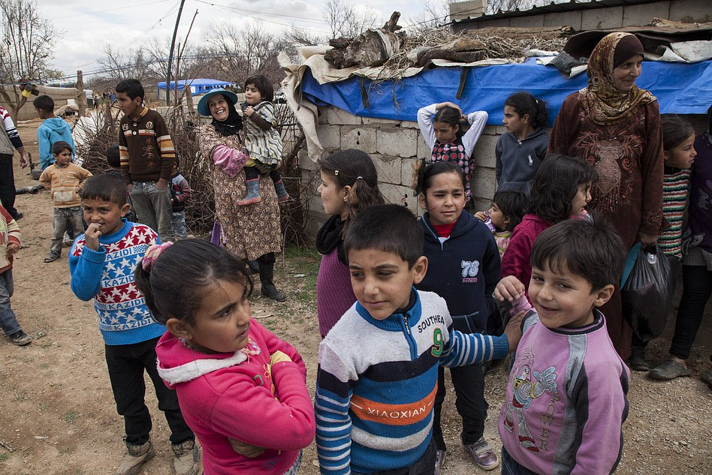 Syrian families in no man´s land (Lebanon-Syrian borders)